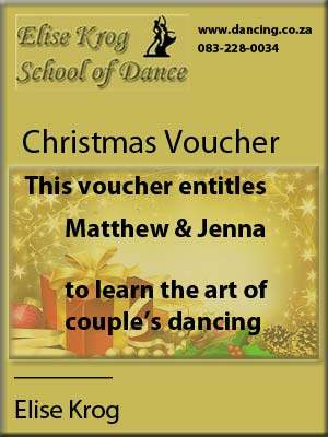 christmas voucher dancing ballroom